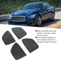 YLSHRF 4Pcs Carbon Fiber Interior Door Handle Bowl Trim Cover Fit for Infiniti Q50 Q60, Door Handle Bowl Trim Sticker, Door Handle Bowl Trim Cover