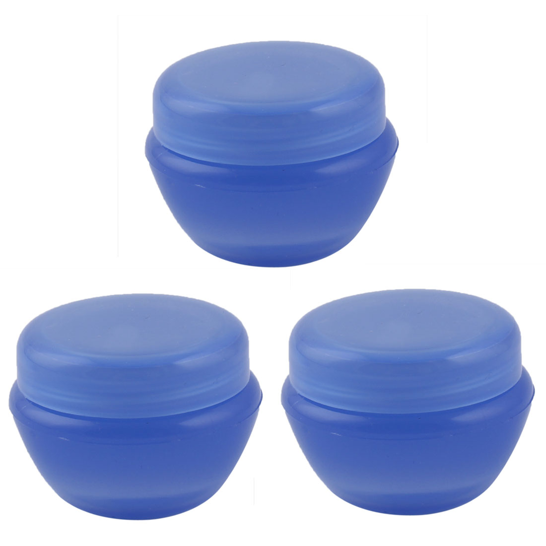 Travel Plastic Cream Container Cosmetic Storage Bottle Organizer Blue 6ml 3pcs