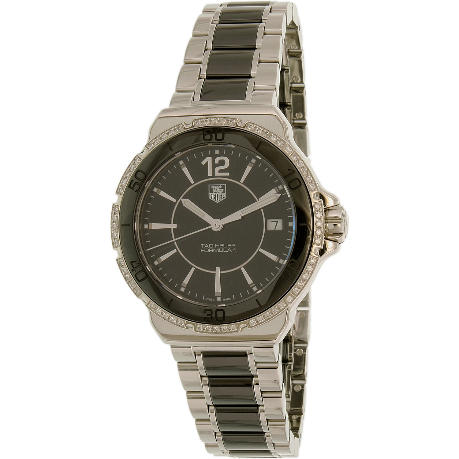 Tag Heuer Women's Formula I WAH1212.BA0859 Black Stainless-Steel Swiss Quartz Watch