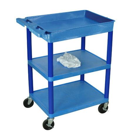 Luxor 3-Shelf Tub Cart, Red for $<!---->