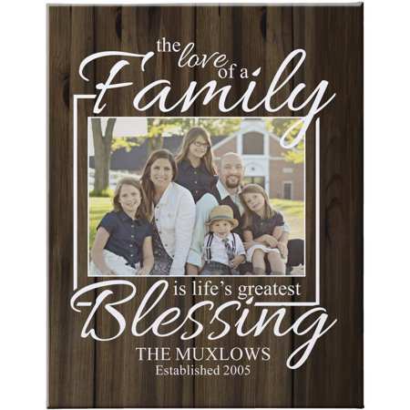14 Personalized Kids Art (Personalized The Love of a Family Photo Canvas, Brown 11