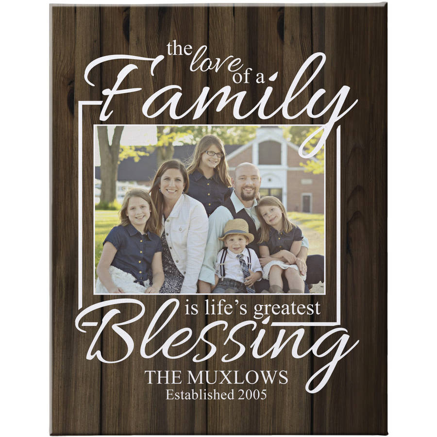 """Personalized The Love of a Family Photo Canvas, Brown 11"""" x 14"""", Available in 11"""" x 14"""" and 16"""" x 20"""""""