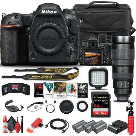 Nikon D500 DSLR Camera Body Only 1559 W/ Nikon 200-500mm Lens - Advanced Bundle