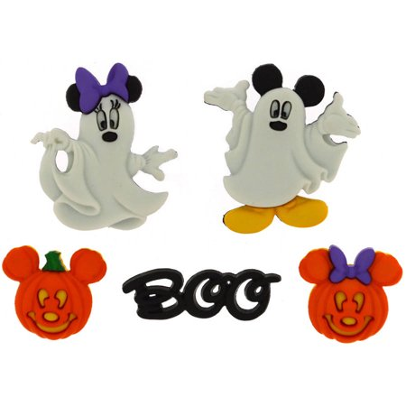 Plastic Embellishments (Dress It Up Licensed Embellishments, Disney Mickey and Minnie Ghosts )