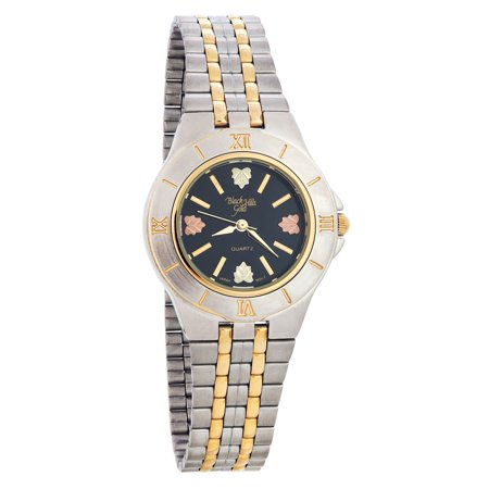 Unisex Black Hills Gold Watch with Black Face - Two-Tone