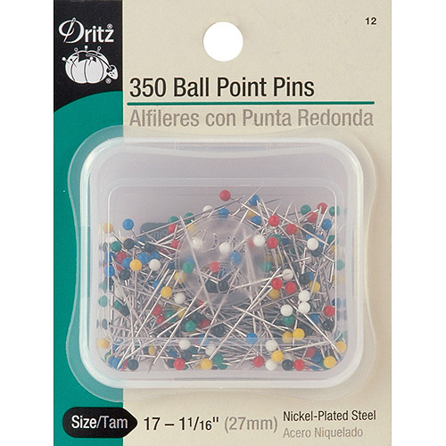 Color Ball Point Pins, Size 17 350/pkg