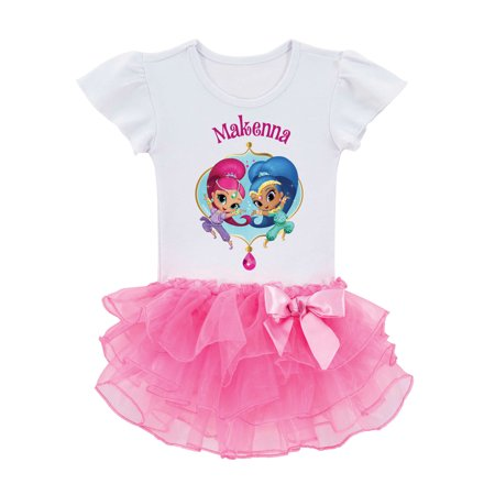 Personalized Shimmer and Shine Dazzling Duo Toddler Tutu Tee,