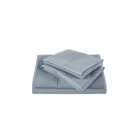 The Great American Store 1800 Series Double Brushed Microfiber Sheet Set - Exp Queen (Solid, Grey)
