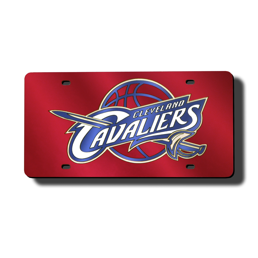 Cleveland Cavaliers Deluxe Mirrored Laser Cut License Plate