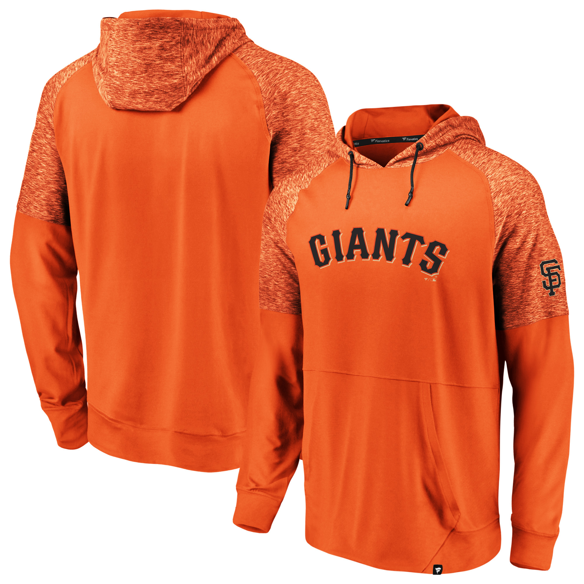 San Francisco Giants Fanatics Branded Made to Move Poly Fleece Pullover Hoodie - Orange