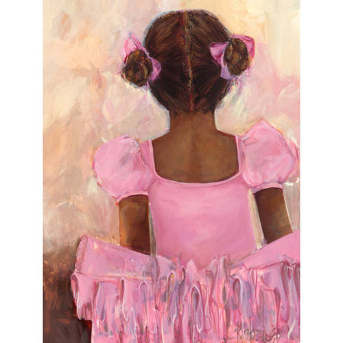 Oopsy Daisy's Perfect Ballerina African American Canvas Wall Art, 14x18