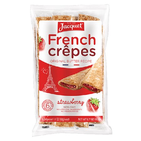 Jacquet Bakery Strawberry French Crepes 6 77 Oz Bags 6 Count   Pack Of 4