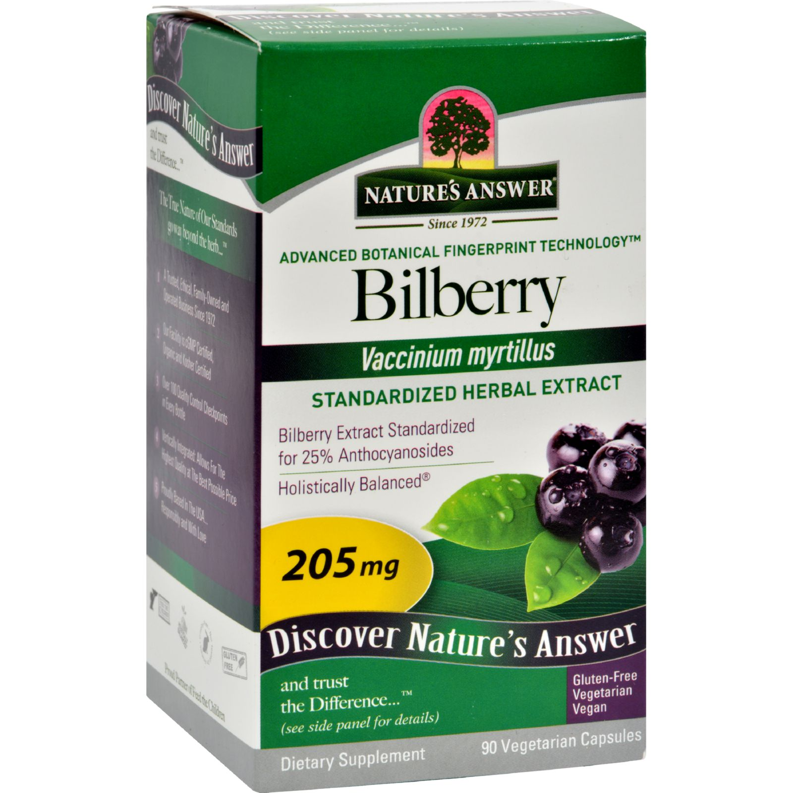 Natures Answer Natures Answer  Bilberry, 90 ea