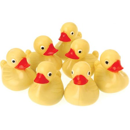 US Toy Hard Plastic Yellow Duck Pond Floaters (Lot of 12), 3