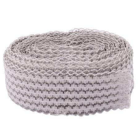 Wedding Lace DIY Wrist Band Decor Packing Bundling Ribbon Gray 10 - Paper Wristbands