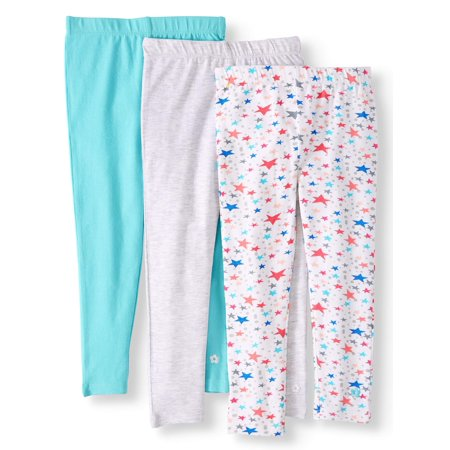 Limited Too Solid and Printed Leggings, 3-pack (Toddler Girls)