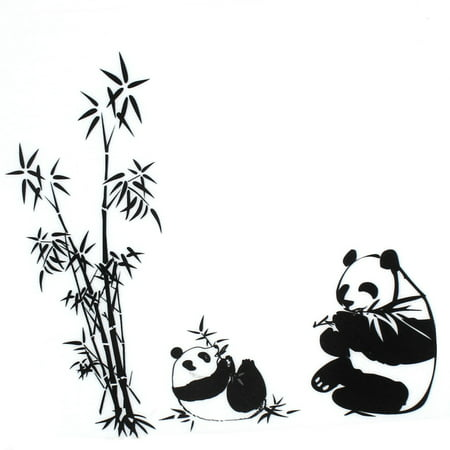 Unique Bargains DIY Panda Bamboo Pattern Removable Wall Decor Sticker Room Wallpaper Decal - Walmart.com