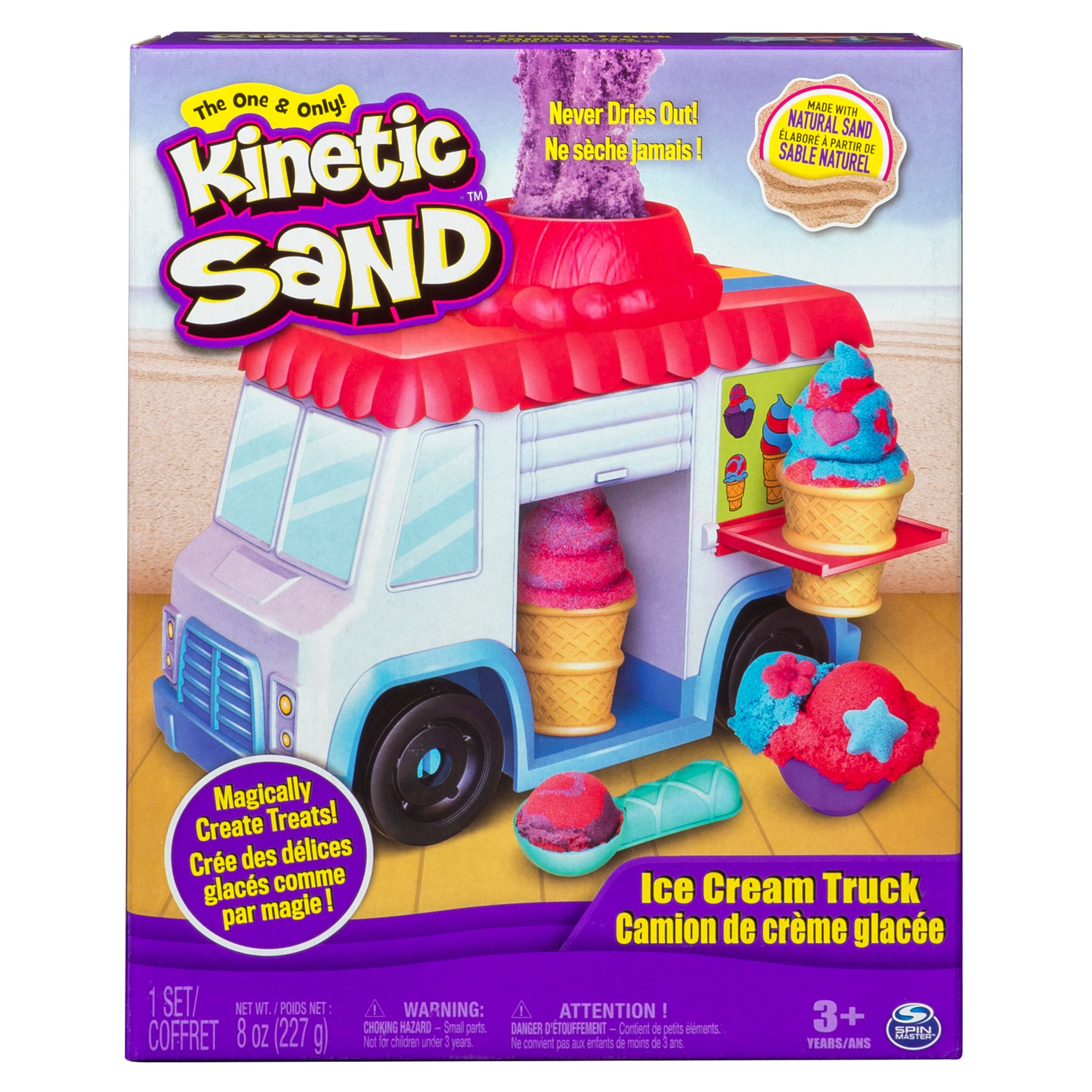 <div>The One and Only Kinetic Sand Ice Cream Truck with 8oz of Kinetic Sand</div> <p> </p>