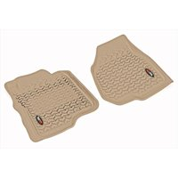 Floor Liner, Front Pair, Tan, 2011-2012 Ford F250, 350 Depressed Pedal