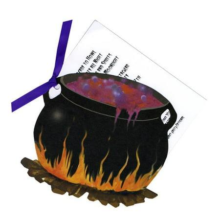 Stevie Streck Designs Sorci-res HW741BOX Chaudron avec Tag du ruban violet sans Glitter - image 1 de 1