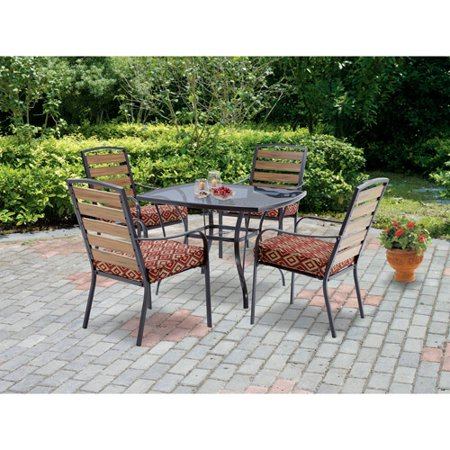 piece endurowood patio dining set steel box 1 of 2
