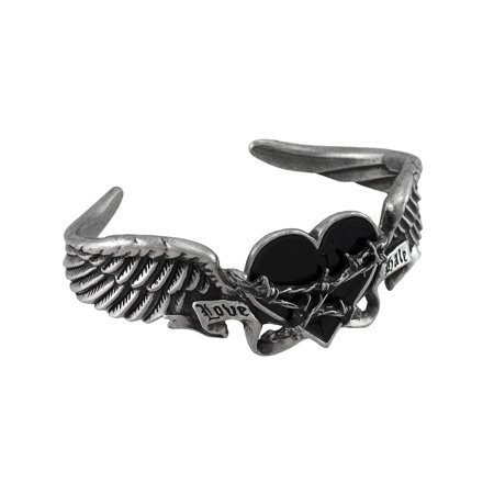 Image of Alchemy Gothic Black Romance Pewter Bracelet Large