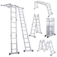 Deals on Costway 12.5-ft. EN131 330LB Folding Scaffold Ladder