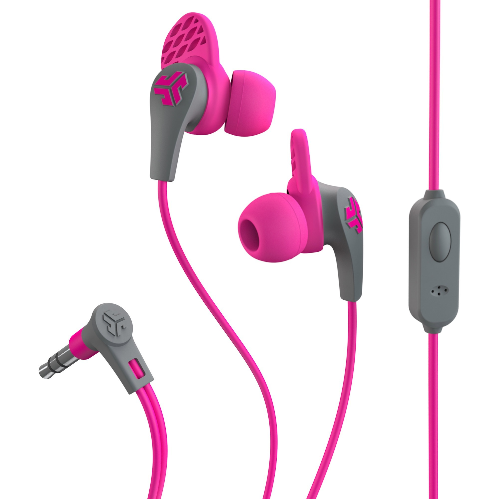 JLab JBuds Pro Signature Earbuds - Stereo - Pink - Mini-phone - Wired - Nickel Plated - Earbud - Binaural - In-ear - 4 ft Cable