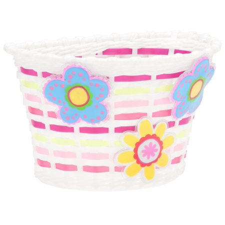 Schwinn Bicycle Basket with Light-up Flowers, Kids, pink, glow (Schwinn Bicycle Basket)