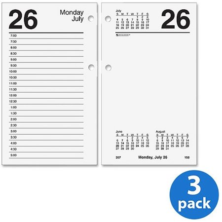 Monticello Dated Daily Calendar Refill - (3 Pack) At-A-Glance Recycled E17 Desk Calendar Refill