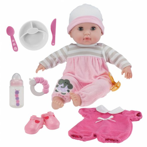 """""""Nonis 15"""""""" Deluxe Baby Doll Set - Pink"""""""