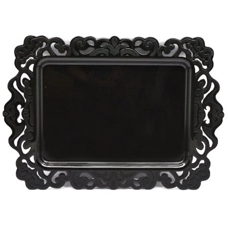 halloween black serving tray