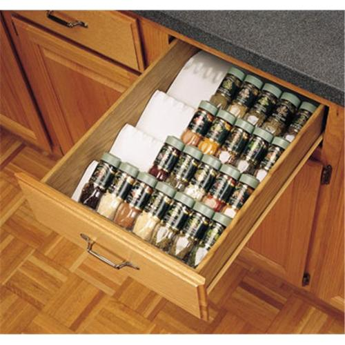 HD RSST50. 21W. 12 Rev-A-Shelf Trimmable Spice Drawer Insert - White