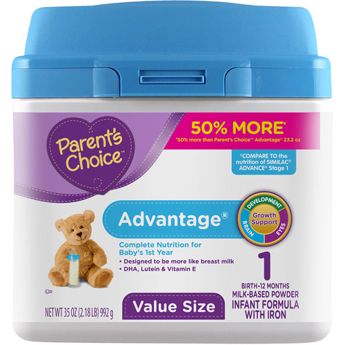 Parent's Choice Advantage Powdered Formula with Iron, 35 oz
