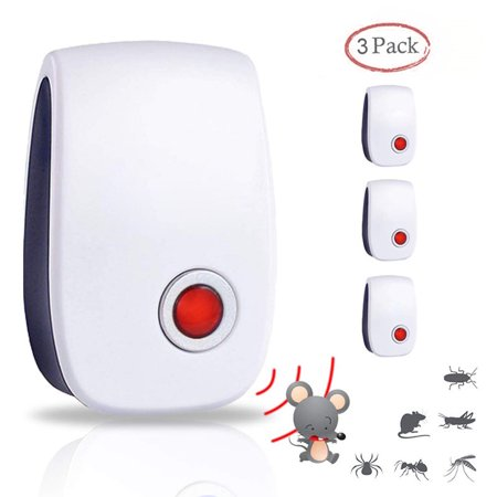 Ultrasonic Pest Repellent, Indoor Plug, Electronic and Ultrasound, Insects, Mosquitoes, Mice, Spiders, Ants, Rats, Roaches, Bugs Control,3 Packs