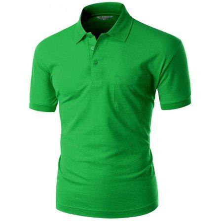 (FashionOutfit Men's Pique 180-200 Tc Polo Dri Fit Collar Short Sleeve T-Shirt)
