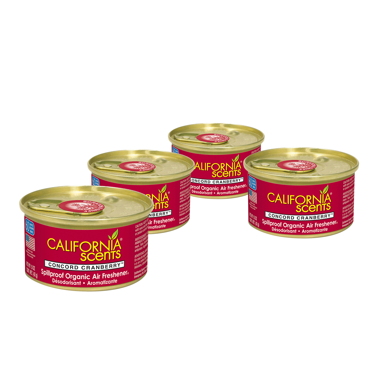 California Scents Air Freshener 4-Pack (Concord Cranberry)