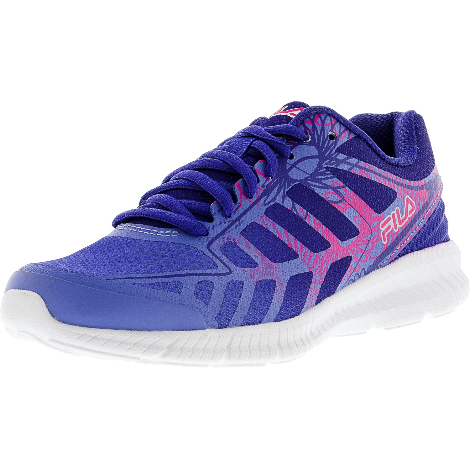 Fila Fila Women's Memory Finity 2 Print Wedgewood Royal Blue Pink Glow Ankle High Running Shoe 7M