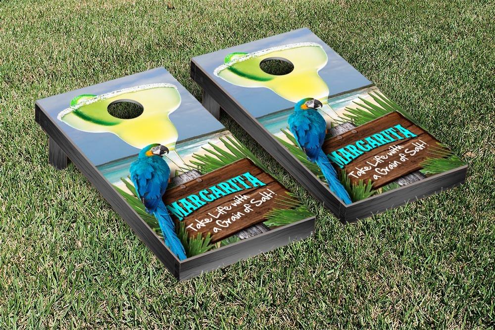 Margarita Beach Themed Cornhole Game Set Version 1 by Victory Tailgate