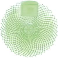 Genuine Joe Eclipse Anti-Splash Deodorizing Urinal Screen, Green, 12 / Dozen (Quantity)