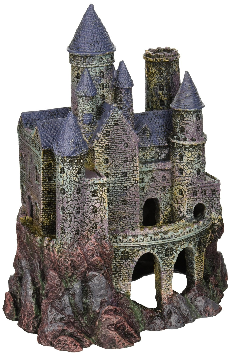 penn plax wizards castle aquarium decoration hand painted with realistic details over 10 inches high walmartcom