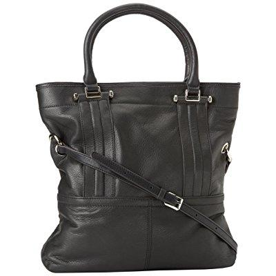 b. makowsky women's mission street tote,black,one size