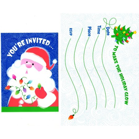 You're Invited Christmas Party Invitations with Santa 8 pack 5 x 4](Halloween Party Invites Diy)