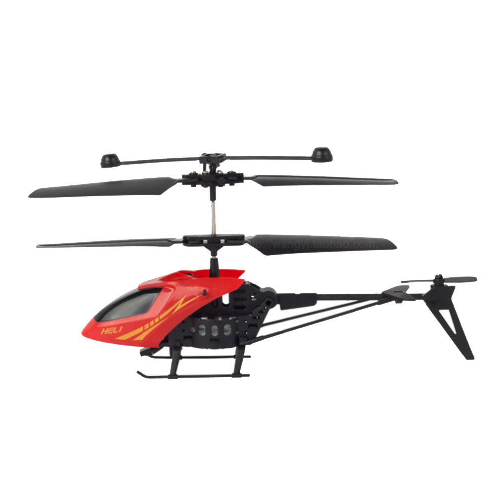 2 Channel ABS Crash Resistant Mini RC Helicopter with LED Light for Indoor Kids Toy Gift by