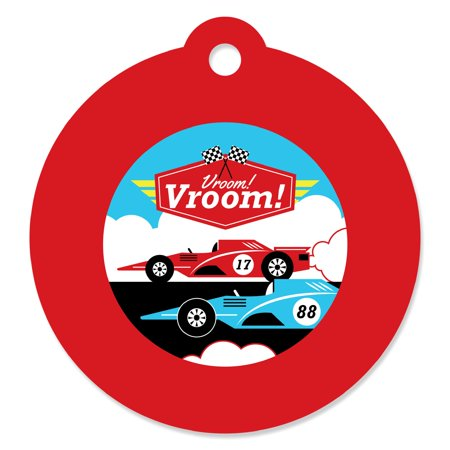 Race Car Baby Shower (Let's Go Racing - Racecar - Baby Shower or Race Car Birthday Party Favor Gift Tags (Set of)