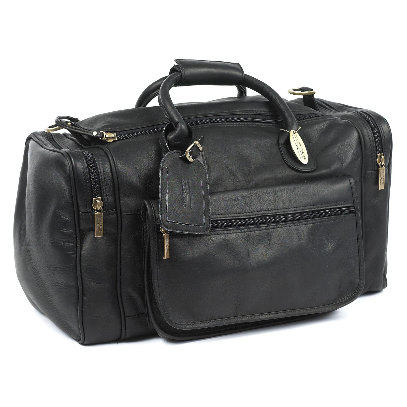Claire Chase Classic Sports Valise Duffel Bag - Black