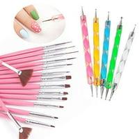20 Pieces Nail Art Gel Design Pen Painting Polish Brush Dotting Drawing Tool Set