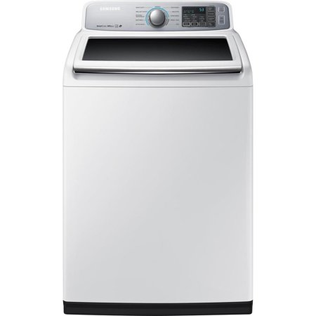 Samsung WA7450 - Washing machine - freestanding - width: 27 in - depth: 29.3 in - height: 45 in - top loading - 5 cu. ft - 800 rpm - white