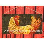 My Island Chicken Sign Wall Decor