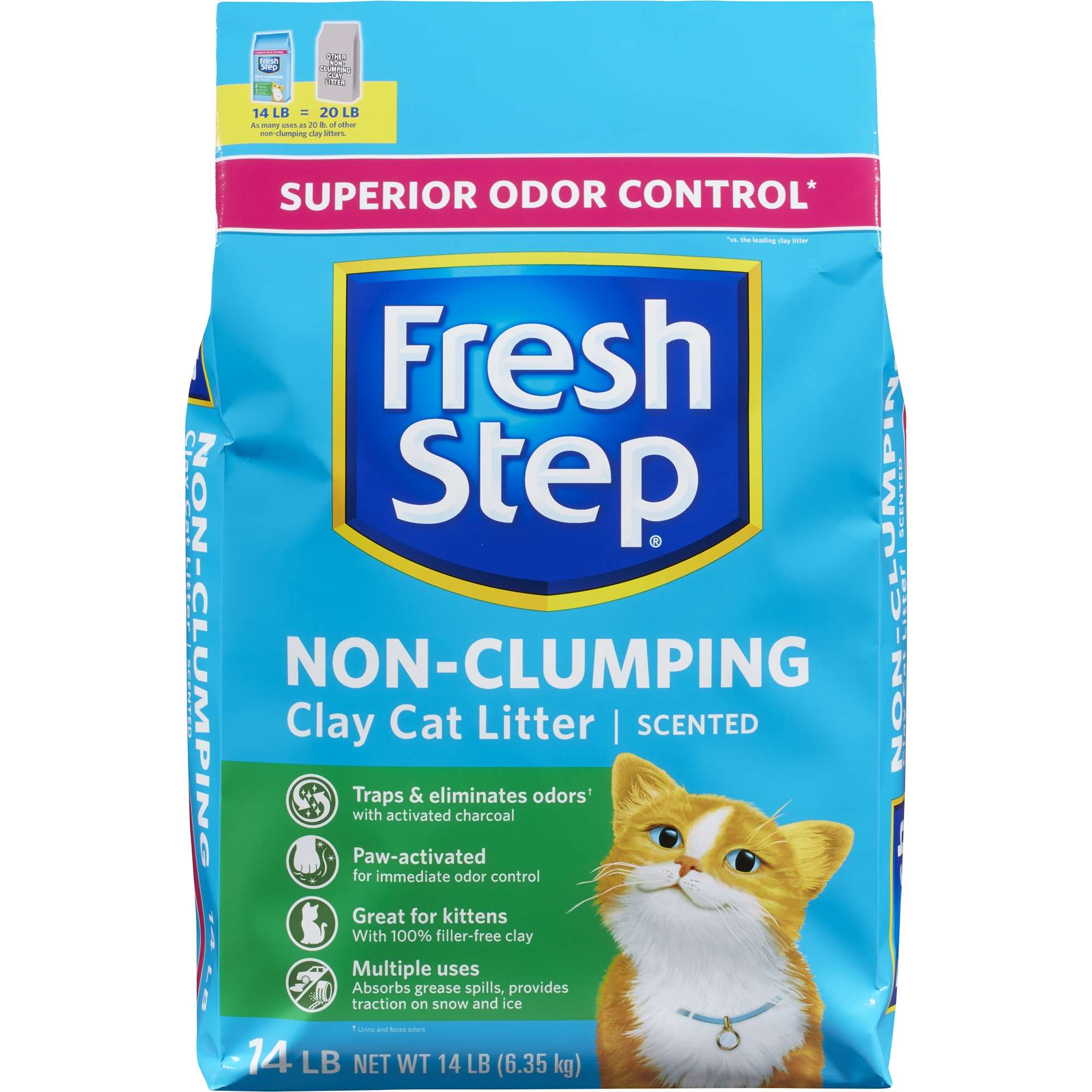 Fresh Step Scented Non-Clumping Clay Cat Litter, 14 Lb.